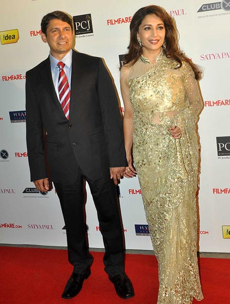 Madhuri Dixit with husband Sriram Nene