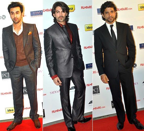 Ranbir Kapoor, Neil Nitin Mukesh and Farhan Akhtar