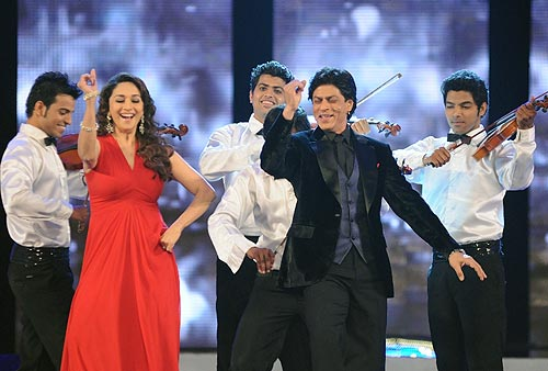 Madhuri Dixit and Shah Rukh Khan