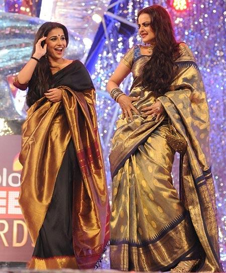 Vidya Balan and Rekha