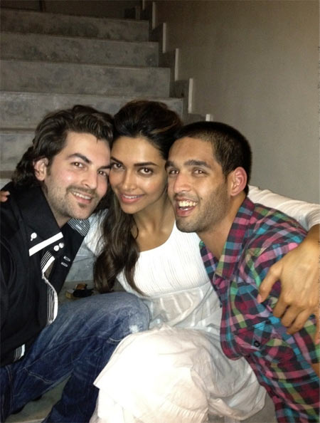 Neil Nitin Mukesh, Deepika Padukone and Siddharth Mallya