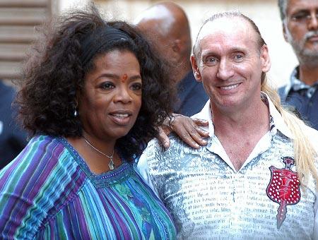 Oprah Winfrey and Greogory Roberts