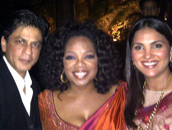 Shah Rukh Khan, Oprah Winfrey and Lara Dutta