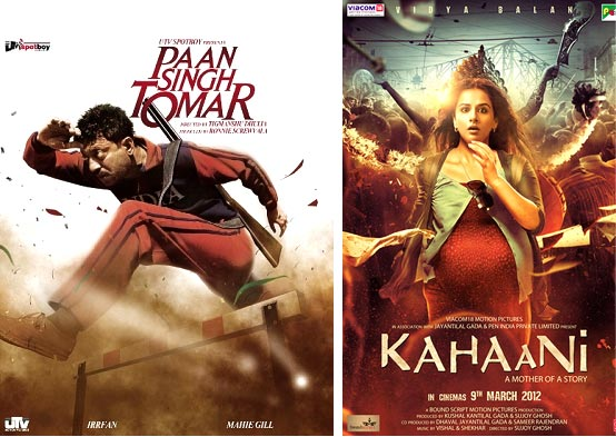 Movie posters of Paan Singh Tomar and Kahaani