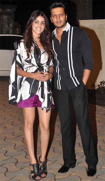 Genelia D'Souza and Ritiesh Deshmukh