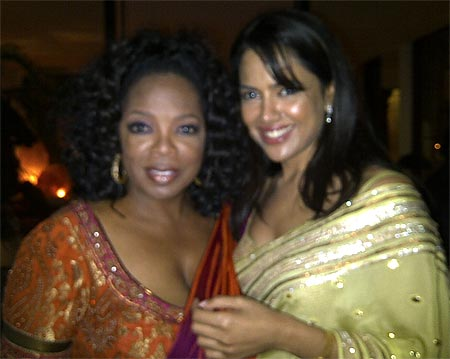 Oprah Winfrey and Sameera Reddy