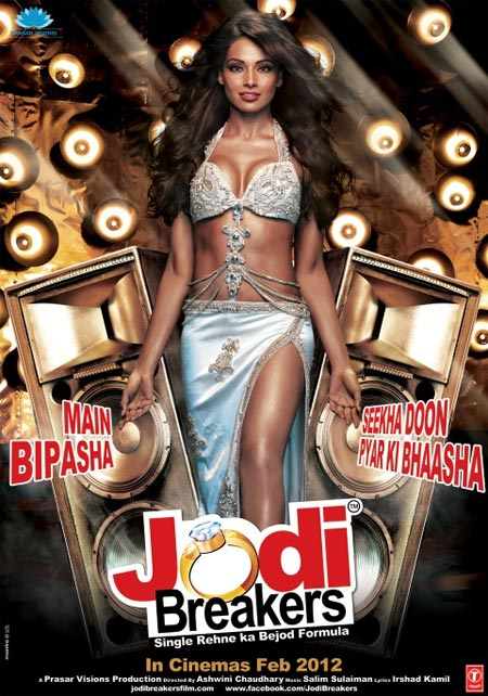 Bipasha Basu on a Jodi Breakers poster