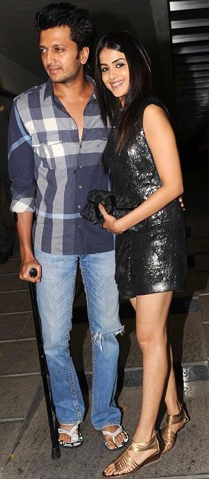 Reitesh Deshmukh and Genelia D'Souza