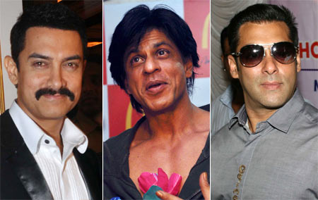 Aamir Khan, Shah Rukh Khan and Salman Khan