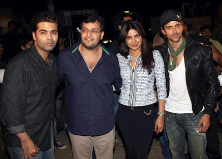 Karan Johar, Karan Malhotra, Priyanka Chopra and Hrithik Roshan