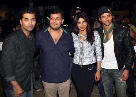 Karan Johar, Karan Malhotra, Priyanka Chopra and Hrithik Roshan