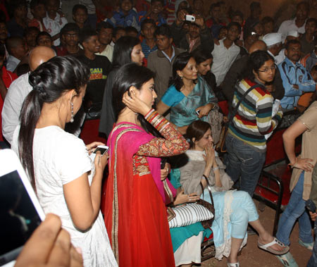 The villagers cheered the film and its stars