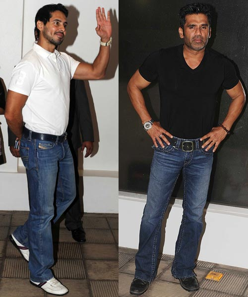 Dino Morea and Suniel Shetty