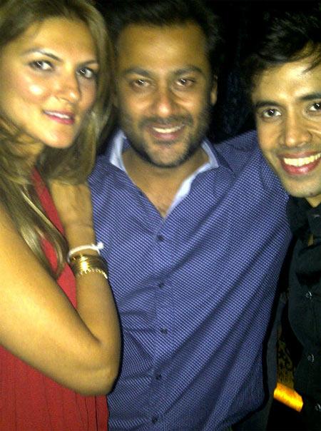 Nandita Mahtani, Abhishek Kapoor and Tusshar Kapoor