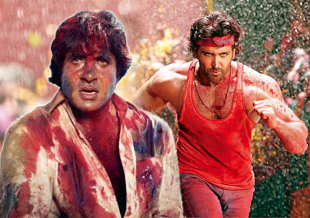 Scenes from Amitabh's and Hrithik's Agneepath