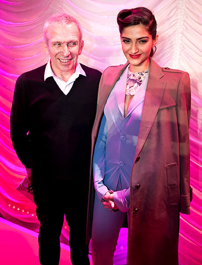 Jean Paul Gaultier and Sonam Kapoor