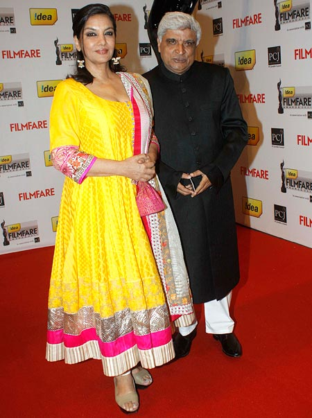 Shabana Azmi with Javed Akhtar