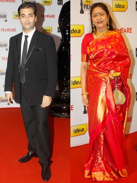Karan Johar and Aruna Irani