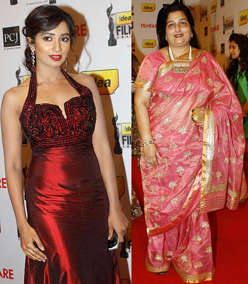 Anuradha Paudwal and Shreya Ghoshal