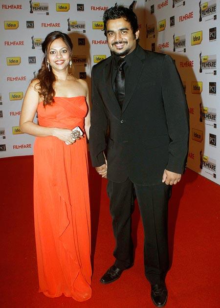 R Madhavan with wife Sarita Birje