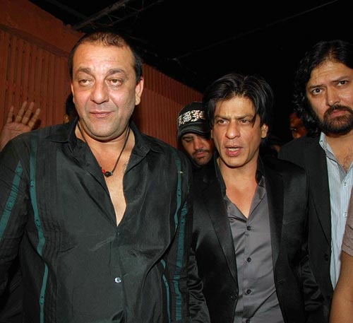 Sanjay Dutt, Shah Rukh Khan and Sameer Arya