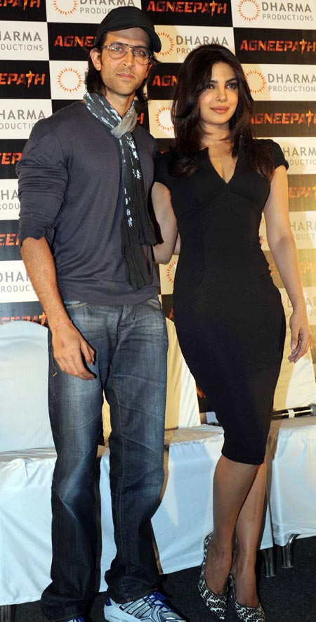Hrithik Roshan and Priyanka Chopra