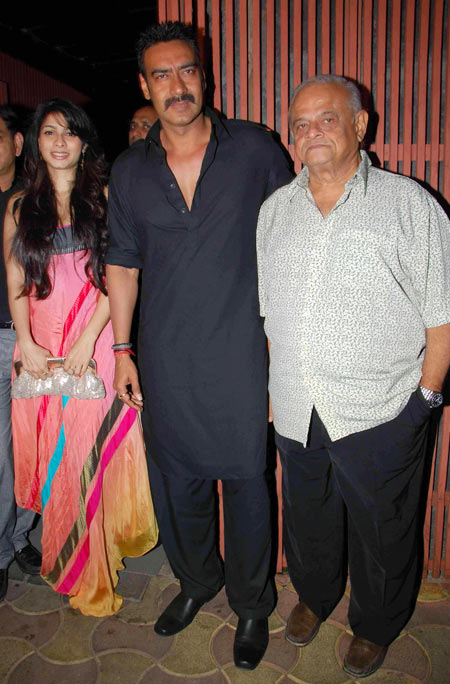 Tanisha, Ajay Devgn and Robin Bhatt