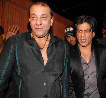 Sanjay Dutt and Shah Rukh Khan