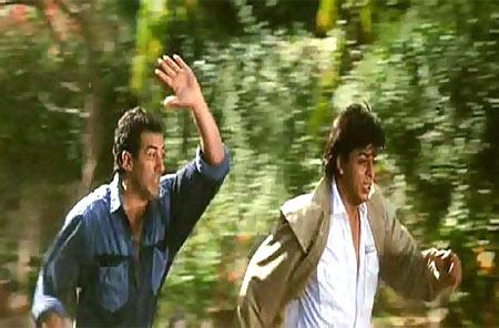 Sunny Deol and Shah Rukh Khan in Daar