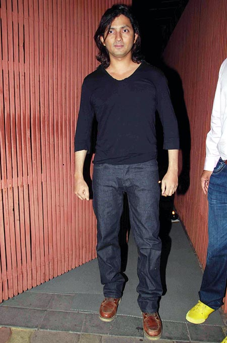 Shirish Kunder at Sanjay Dutt's party