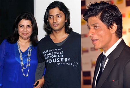Farah Khan, Shirish Kunder and Shah Rukh Khan