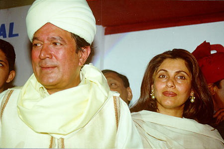 Dimple Kapadia and Rajesh Khanna