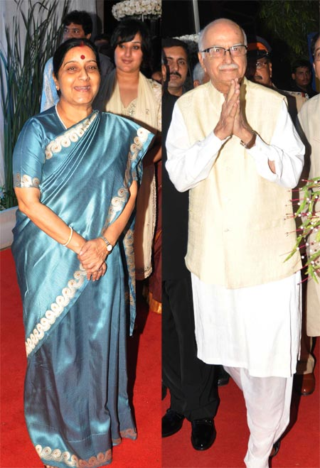 Sushma Swaraj and LK Advani