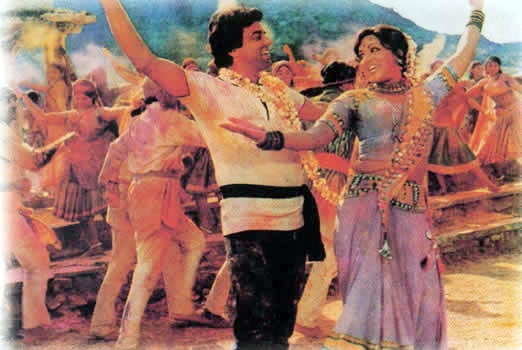 Dharmendra and Hema Malini in Sholay