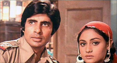 Amitabh Bachchan and Jaya Bhaduri in Zanjeer