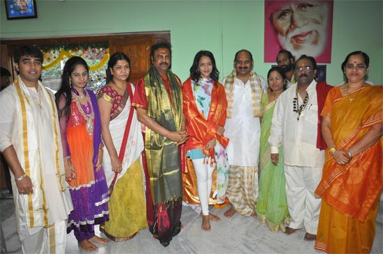 Mohanbabu with his family