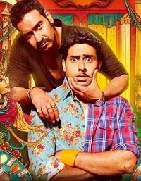 Ajay Devgn and Abhishek Bachchan in Bol Bachchan