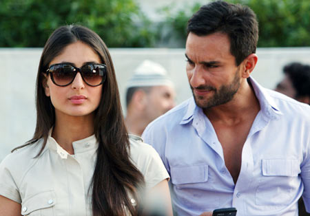 Kareena Kapoor and Saif Ali Khan in Agent Vinod