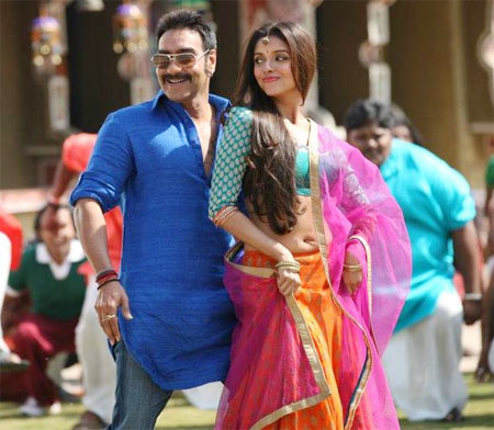 Asin with Ajay Devgn in Bol Bachchan