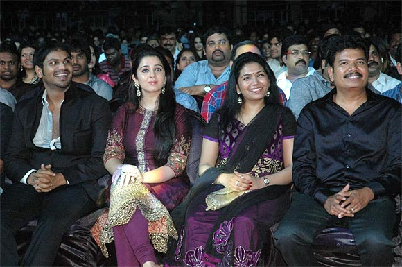Manchu Manoj, Charmee and Shankar and wife