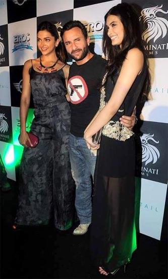 Deepika Padukone, Saif Ali Khan and Diana Penty
