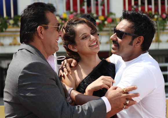 Sanjay Dutt, Kangna Ranaut and Ajay Devgn in Rascals