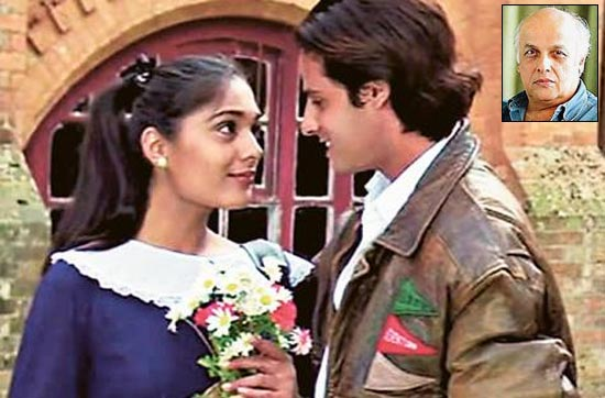 Anu Agarwal and Rahul Roy in Aashiqui. Inset: Mahesh Bhatt