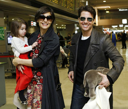 Suri Cruise, Katie Holmes and Tom Cruise