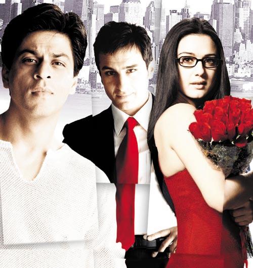 Shah Rukh Khan, Saif Ali Khan and Preity Zinta in Kal Ho Naa Ho