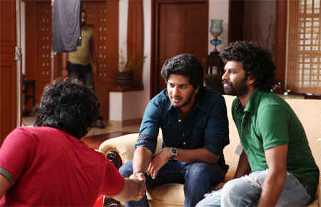 Sunny Wayne with Dulquer Salman in Second Show