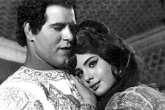 Dara Singh and Mumtaz in a film