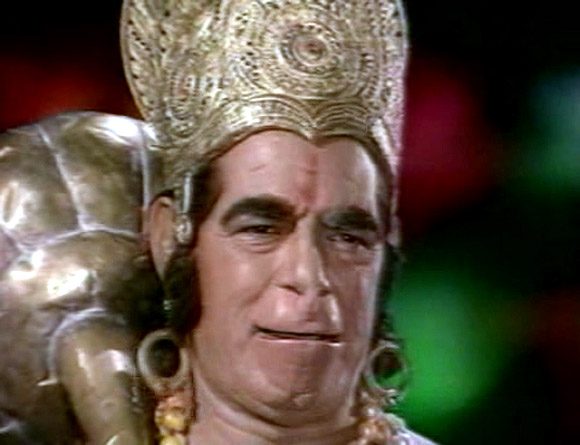 Dara Singh as Hanuman in Ramayan