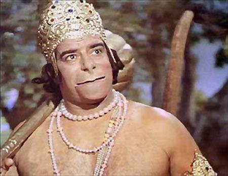 Dara Singh as Hanuman in Ramayan