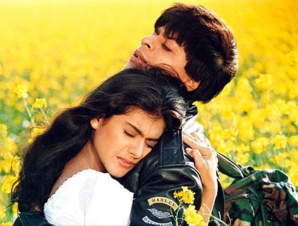 Kajol and Shah Rukh Khan in Dilwale Dulhaniya Le Jayenge